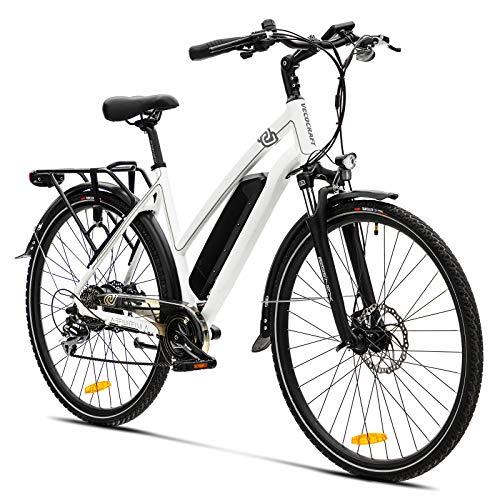 Elektrofahrrad E Bike VecoCraft Athena E-Bike Trekking Pedelec Vorführräder für Damen Herren, 28Zoll...