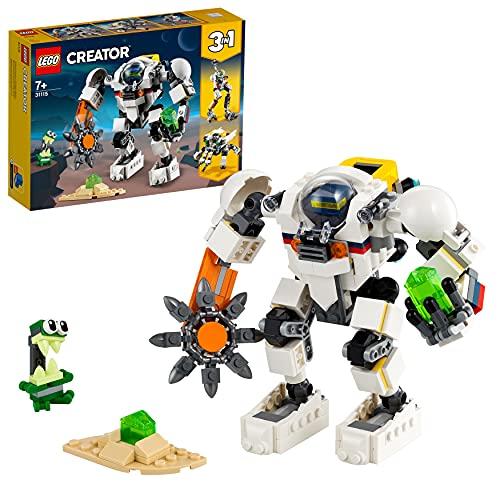 LEGO 31115 Creator 3-in-1 Weltraum-Mech, Weltraumroboter oder Lastenträger Spielzeug, Actionfigur mit...