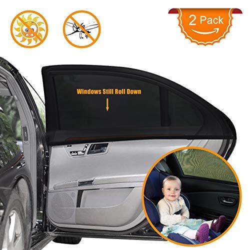 Auto Sonnenschutz für Baby 2 Stück, Autofenster Sonnenschutz für Kinder mit UV Schutz/Blendschutz,...