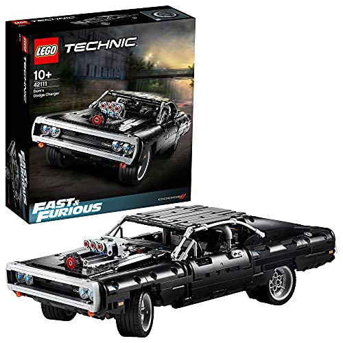 LEGO 42111 Technic Fast & Furious Dom's Dodge Charger Rennwagen Modell für Kinder und Erwachsene,...