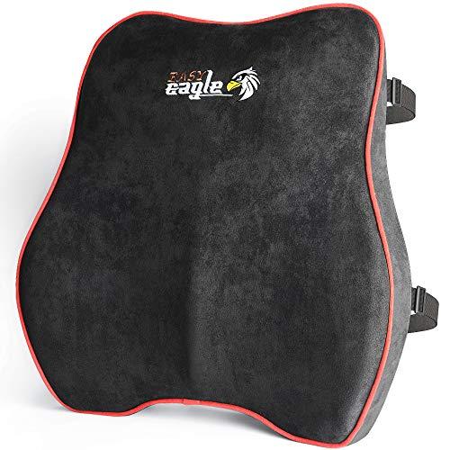 EASY EAGLE Lordosenstütze Autositz, Stützkissen Auto aus Wildledergewebe und Memory-Schaumstoff,...
