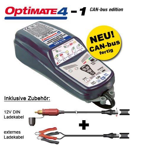 Batterieladegerät Tecmate OptiMate 4 CAN-Bus für BMW, Erweiterte 12V-Akkupflege, mit SAE Steckern