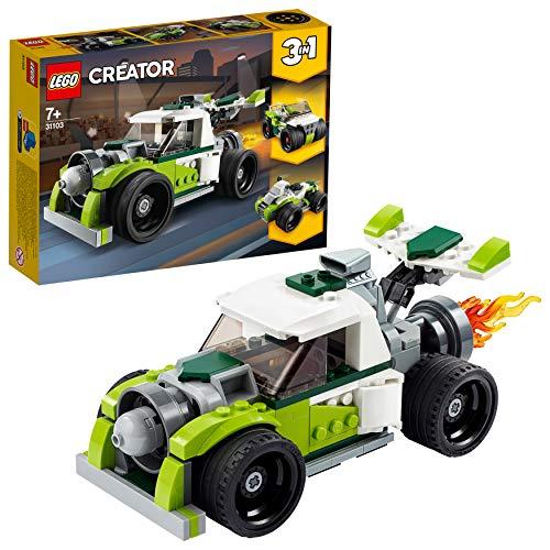 LEGO 31103 Creator 3-in-1 Raketen-Truck - Geländewagen - Quad Bauset, Fahrzeug-Kollektion Serie
