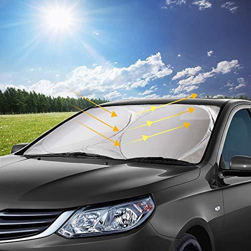 opamoo Auto Sonnenschutz, Sommer Sonnenschutz Auto Frontscheibe Sonnenschutz Sonnenblende...