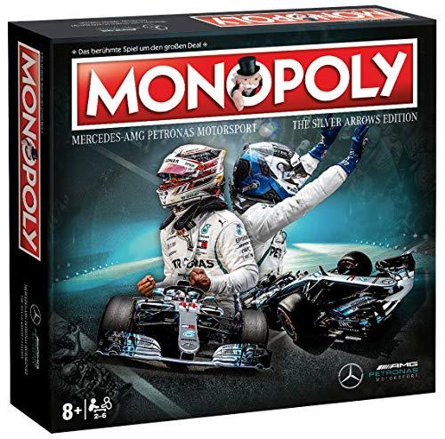 Winning Moves Monopoly Mercedes-AMG Petronas Motorsport Spiel Gesellschaftsspiel Brettspiel