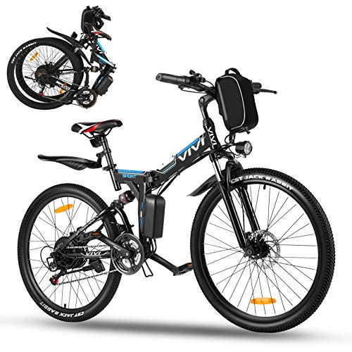Vivi Ebike Mountainbike 26 Zoll E Bike Damen Herren,350W Elektrofahrrad klapprad mit Abnehmbare 36V 8Ah...