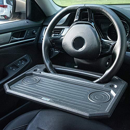 TICARVE Lenkrad Schreibtisch Tragbare Auto Tisch Multifunktional Lenkrad Tisch Laptop Tablett Auto...