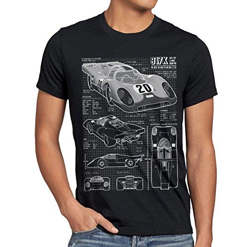style3 917K Blaupause Herren T-Shirt Le Mans