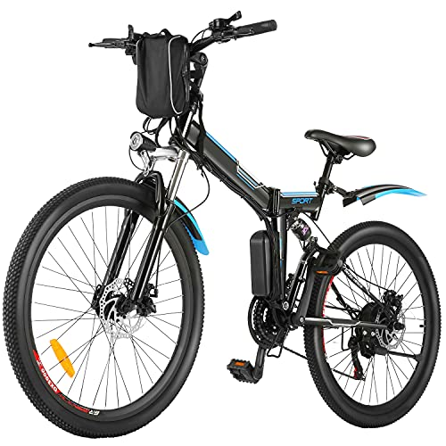 BIKFUN E-Bike 26 Zoll Elektrofahrrad Herren Damen E-Mountainbike Ebike Pedelec E-Klapprad mit...