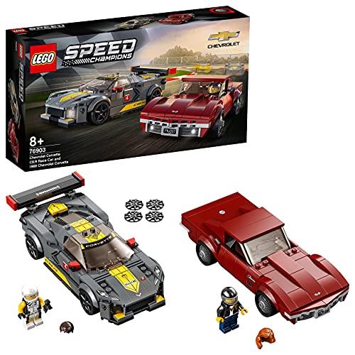 LEGO 76903 Speed Champions Chevrolet Corvette C8.R & 1968 Chevrolet Corvette Spielzeugauto, Modellauto...