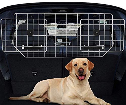 Sailnovo Hundegitter fürs Auto-Schutzgitter Trenngitter - Bis 61' verstellbar Hundeschutzgitter für den...