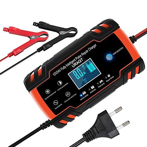 URAQT Batterie Ladegerät Auto, Autobatterie Ladegerät 12V/24V, Autobatterie Ladegerät mit...