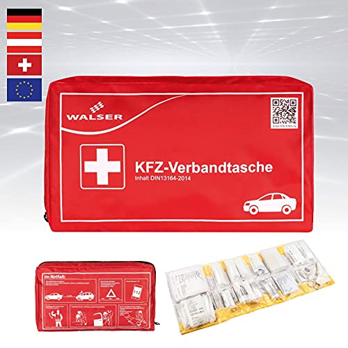 KFZ-Verbandtasche, Auto-Verbandskasten, Erste Hilfe Koffer, Notfall-Set Auto, Erste Hilfe Tasche DIN...