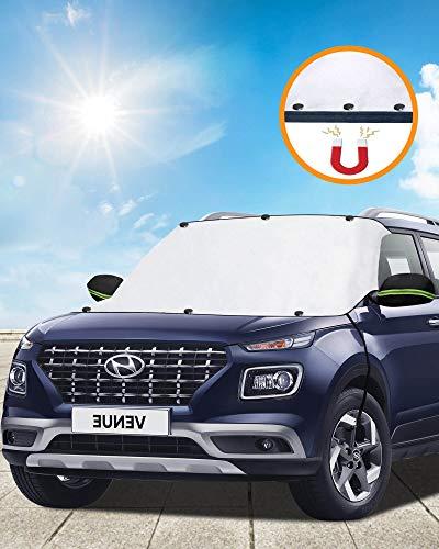 Tevlaphee Auto Sonnenschutz Frontscheibe Windschutzscheiben Sonnenschutz Frontscheibenabdeckung Auto...