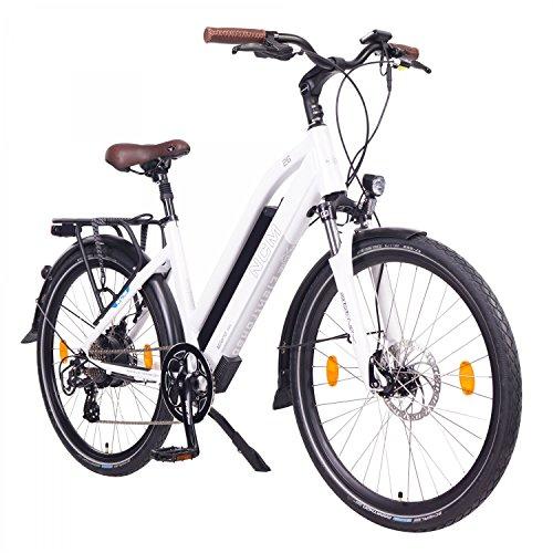 NCM Milano 48V, 26' Urban Trekking E-Bike Elektrofahrrad Pedelec, 250W 13Ah 624Wh, weiß, schwarz (Weiß,...