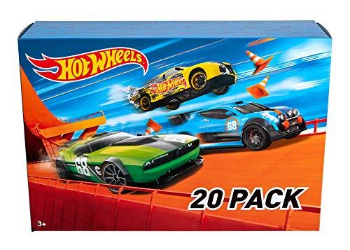Hot Wheels DXY59 20er Pack 1:64 Die-Cast Fahrzeuge Geschenkset, je 20 Spielzeugautos, zufällige Auswahl,...