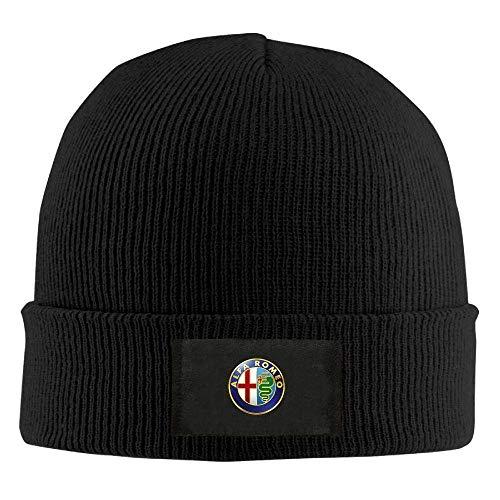 flys Alfa Romeo Logo Herren warme Wintermütze Strickmütze Totenkopf Mütze Unisex