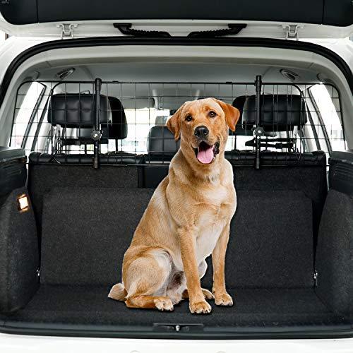 Toozey Kofferraum Hundegitter für Auto, SUV Universal - Kopfstützen-Befestigung&Gurte Doppelte...