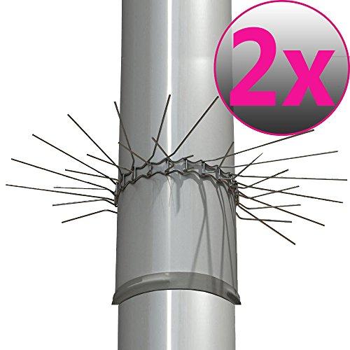 2er Set Marderabwehrgürtel für Fallrohre bis zu Ø 100mm Marderschutz Marderstopp individuell anpassbar...