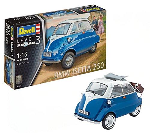 Revell Modellbausatz Auto 1:16 - BMW Isetta 250 Knutschkugel im Maßstab 1:16, Level 3, originalgetreue...