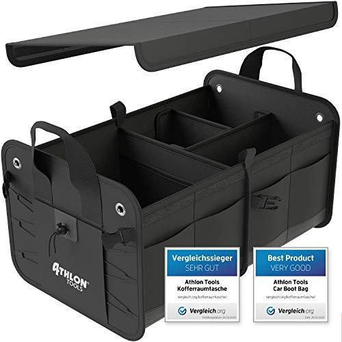 ATHLON TOOLS Premium Kofferraumtasche mit Deckel | Vergleichssieger 12/2019 - sehr gut - | 60 Liter XXL...