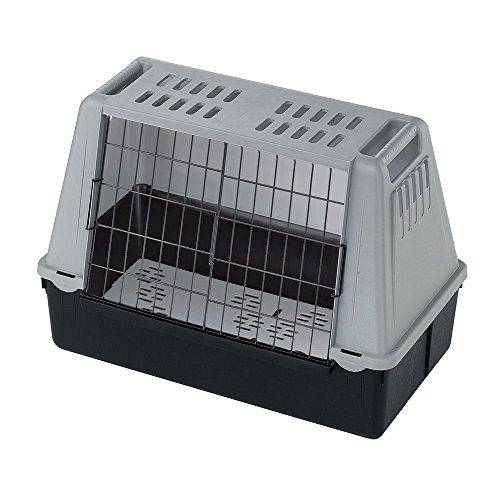 Ferplast Autotransportbox für Hunde ATLAS CAR MINI mit Lüftungsgitter, Drainagematte enthalten