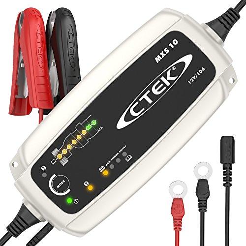 CTEK MXS 10 - Vollautomatisches Batterieladegerät (Grundladung, Erneuerung, Erhaltungsladung von...