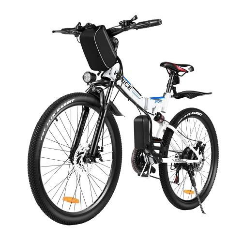VIVI 350W Faltbares E-Bike Mountainbike, 26 Zoll Elektrofahrrad Klappbar Für Herren und Damen,...