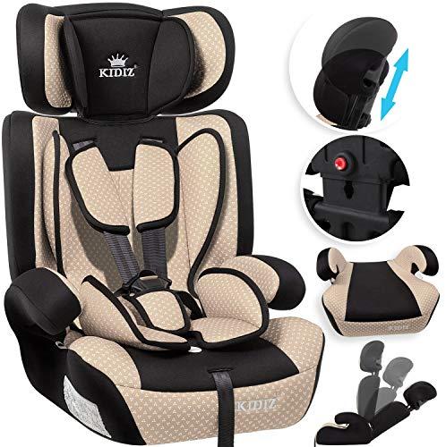 KIDIZ Autokindersitz Kindersitz Kinderautositz | Autositz Sitzschale | 9 kg - 36 kg 1-12 Jahre | Gruppe...