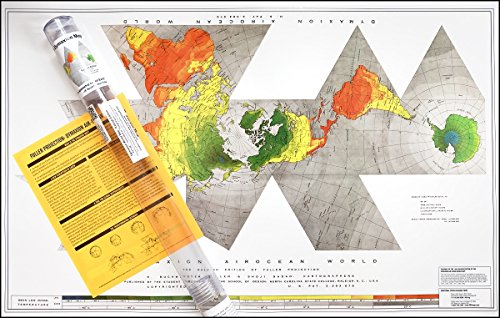 Buckminster Fuller Raleigh Edition Dymaxion Map - Laminated