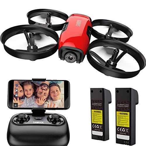 SANROCK U61W Drohne für Kinder mit Kamera, 2 Batterien, APP und Fernbedienung 720P HD FPV Quadcopter,...