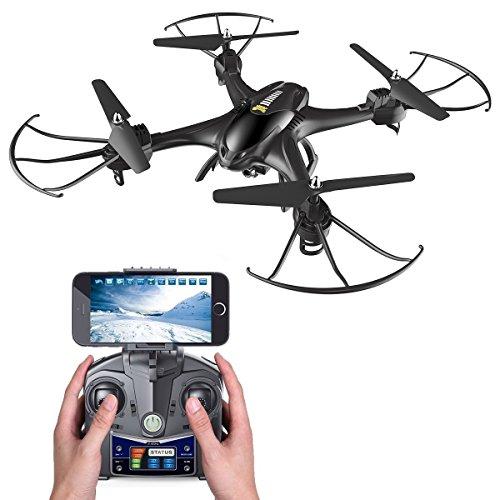 Holy Stone HS200 FPV RC Drohne mit HD Kamera Live Übertragung,RC Quadrocopter ferngesteuert mit APP...