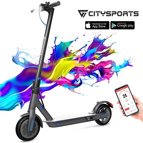 CITYSPORTS Elektroroller 8,5 Zoll, E-scooter Faltbarer Roller mit APP & Bluetooth, Akku 7,5 Ah Langlebig,...