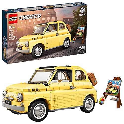 LEGO 10271 Fiat 500 Modellauto, Set für Teenager und Erwachsene, Spielzeugauto, Sammlerstück, tolle...