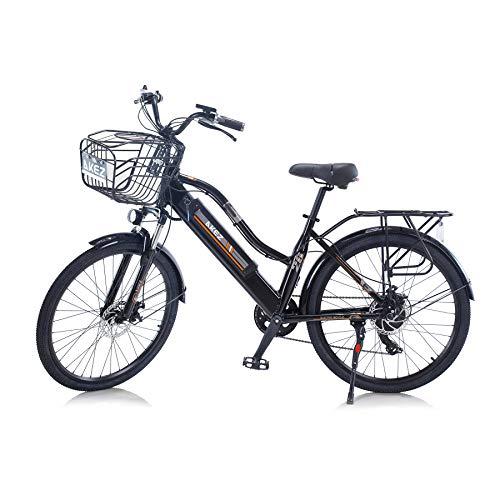Hyuhome 2021 Upgrade Elektrofahrräder für Frauen Erwachsene, All Terrain 26'36V 250 / 350W...