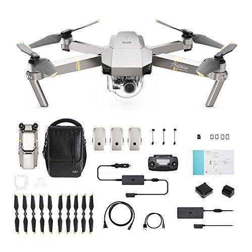 DJI Mavic Pro Platinum Fly More Combo - Drohne mit 4K Full-HD Videokamera inkl. Zubehör I 12 Megapixel...