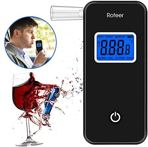 Soulcker Alkoholtester, Digitaler LCD Bildschirm Alkohol Tester Promilletester Tragbar Alkoholmessgerät...