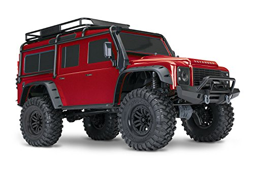 Traxxas 82056-4 RED TRX-82056-4R Landrover Defender Brushed RC Modellauto Elektro Crawler Allradantrieb...