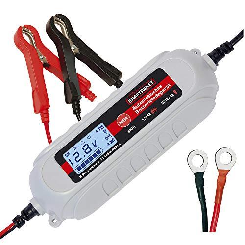Dino KRAFTPAKET 136312 Batterieladegerät 6V/12V-4A mit Batterietester und Erhaltungsladung für KFZ PKW...