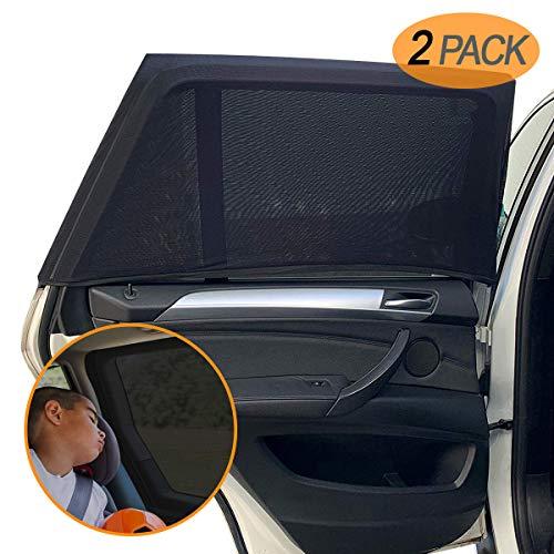 Amteker 2 Pack Sonnenschutz Auto Baby mit UV Schutz - UV Schutz Sonnenrollo Autofenster für Kinder Baby...