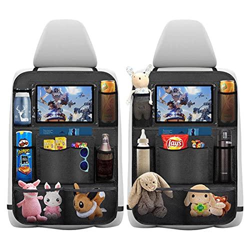 Auto Rückenlehnenschutz, laxikoo 2 Stück Wasserdicht Auto Rücksitz Organizer für Kinder,...