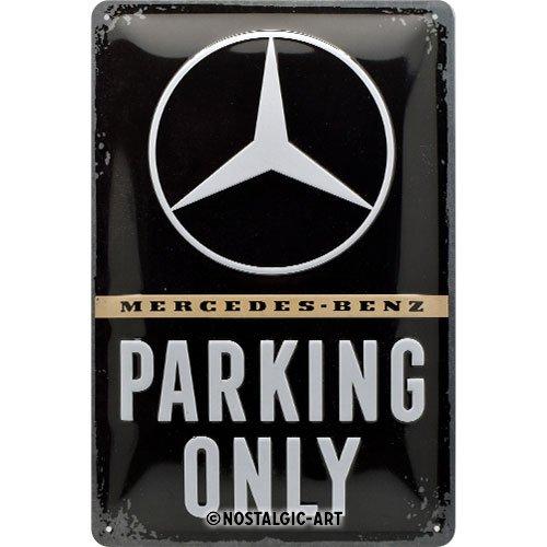 Blechschild: Mercedes-Benz - Parking Only