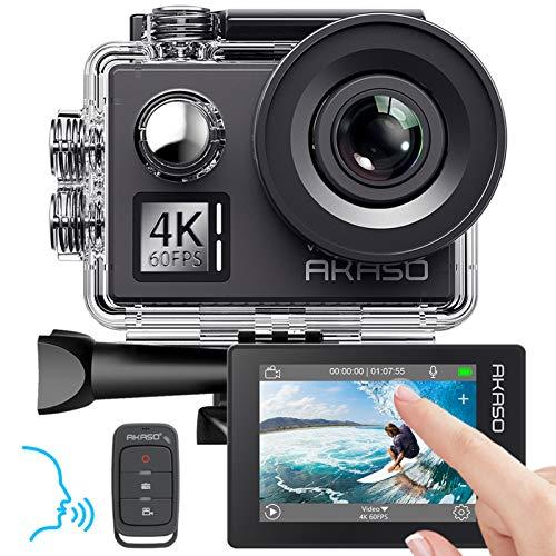 AKASO Action cam 4K/60fps /Action Kamera 20MP WiFi mit Touchscreen EIS 40M unterwasserkamera V50 Elite...