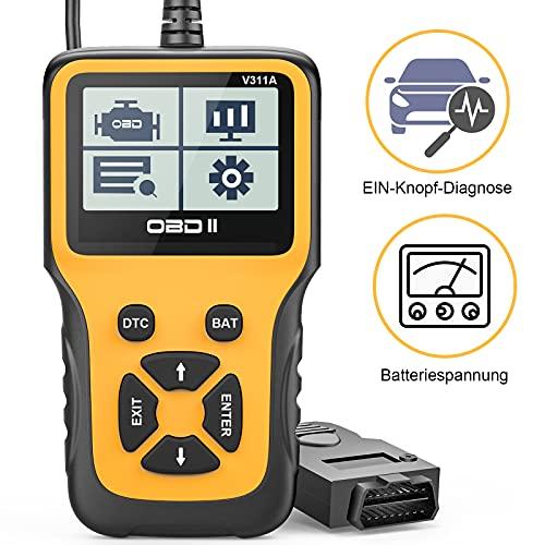 Beefix OBD2 Diagnosegerät,Auto OBD Adapter Scan Werkzeug,Automotor Fehler-Code Scanner für Europäische...