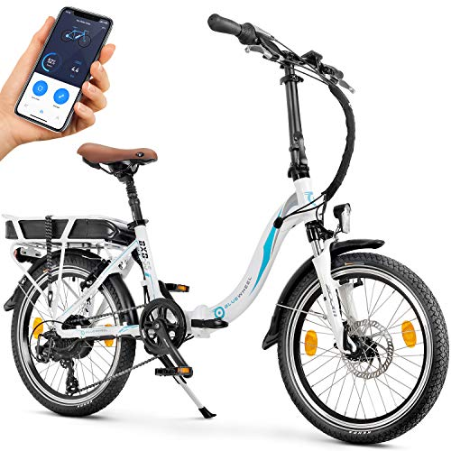 Bluewheel 20 Zoll klappbares E-Bike 16Ah -Deutsche Qualitätsmarke- EU-konformes Pedelec inkl. App, 250W...
