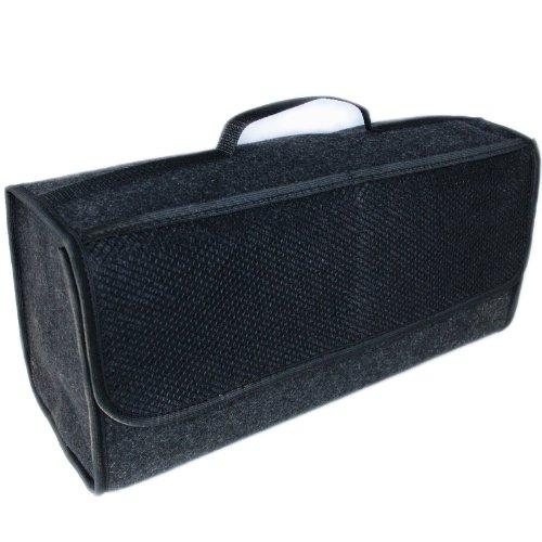 Handycop® Kofferraumtasche Groß Schwarz Filz Werkzeugtasche mit Klett 25,5 x 48 x 15,5 cm haftet an...