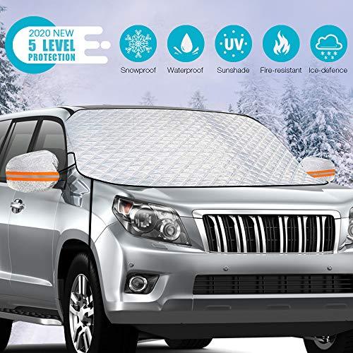 Rifny Auto Sonnenschutz Frontscheibe, Auto Scheibenabdeckung für Windschutzscheibe Gegen UV-Strahlung,...