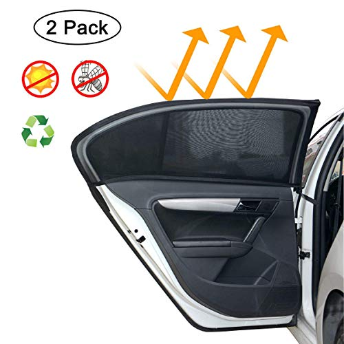 MONOJOY 2 x Auto Sonnenschutz für Baby, Auto Sonnenschutz für SUV Heckscheibe UV-Schutz Auto...
