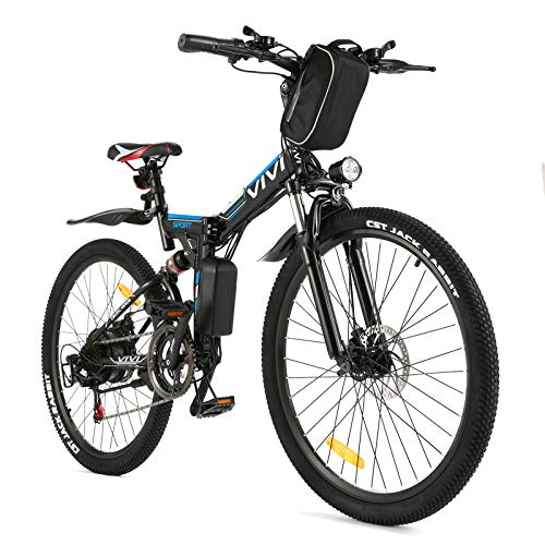 VIVI E Bike Herren Elektrofahrrad, 26 Zoll Mountainbike 350W Elektro Klapprad Mit Herausnehmbarer 8Ah...