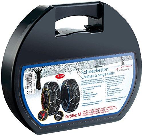 Lescars Anfahrhilfe: Schneeketten Größe M für Reifen 205/55 R16 u.v.m. (Schneeketten zur Standmontage)